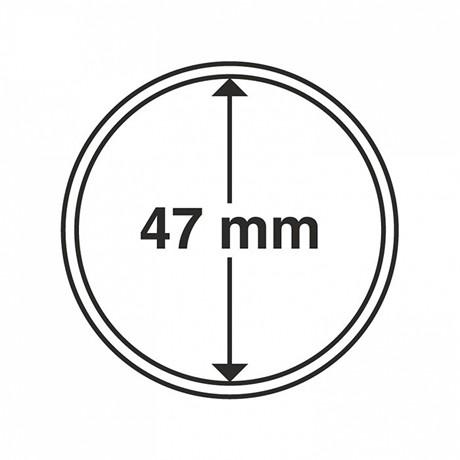 (MAT01.Rangindiv.Caps.300829) Capsules Leuchtturm pour monnaies 47,00 mm