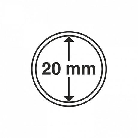 (MAT01.Rangindiv.Caps.303557) Capsules Leuchtturm pour monnaies 20,00 mm