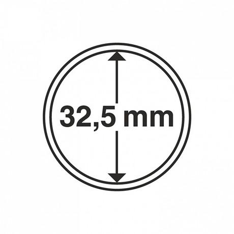 (MAT01.Rangindiv.Caps.308039) Capsules Leuchtturm pour monnaies 32,50 mm