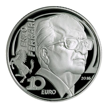 10 euro Italie 2016 argent BE - Enzo Ferrari Revers