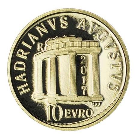 10 euro Italie 2017 or BE - Hadrien Revers