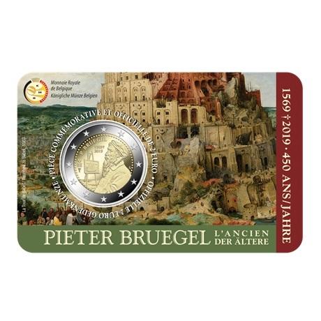2 euro commémorative Belgique 2019 BU - Pieter Bruegel Recto