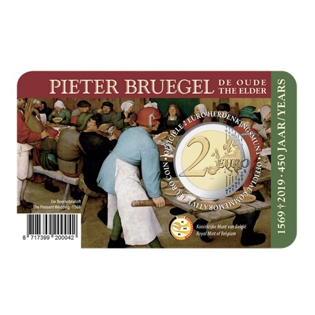 2 euro commémorative Belgique 2019 BU - Pieter Bruegel Verso