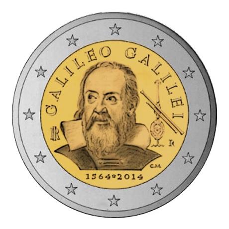 2 euro commémorative Italie 2014 - Galilée
