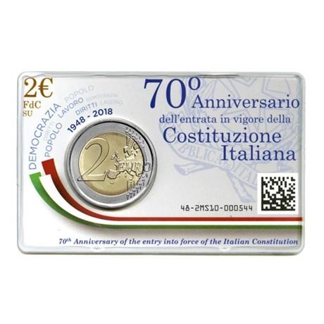 2 euro commémorative Italie 2018 BU - Constitution italienne Verso