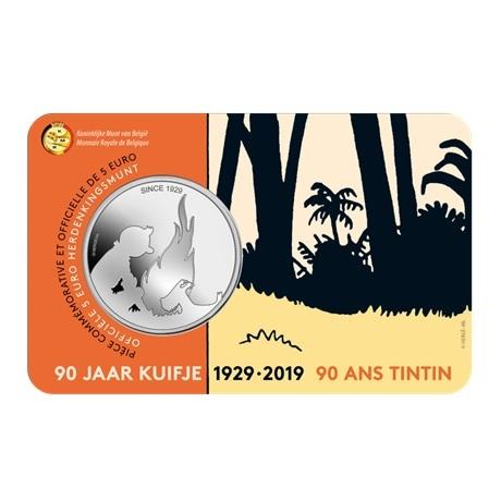 5 euro Belgique 2019 BU - Tintin Recto