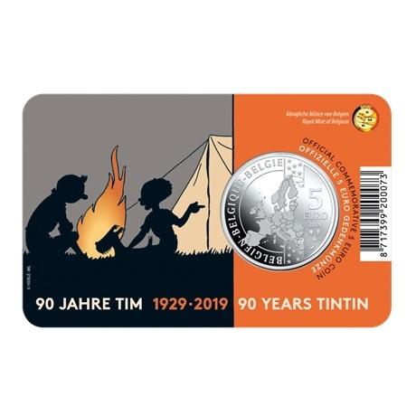 5 euro Belgique 2019 BU - Tintin Verso