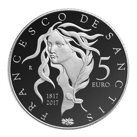 5 euro Italie 2017 argent BE - Francesco de Sanctis Revers