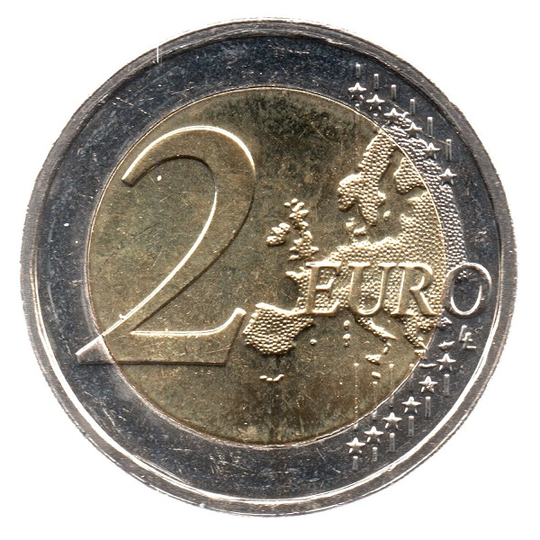 (EUR11.200.2018.COM2.spl.000000001) 2 euro Luxembourg 2018 - Guillaume I Reverse (zoom)