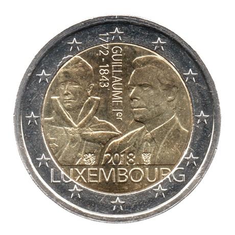 (EUR11.200.2018.COM2.spl.000000001) 2 euro commémorative Luxembourg 2018 - Guillaume Ier Avers