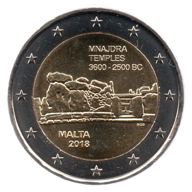(EUR13.200.2018.COM1_.spl_.000000002) 2 euro commemorative coin Malta 2018 - Mnajdra Temples Obverse (zoom)