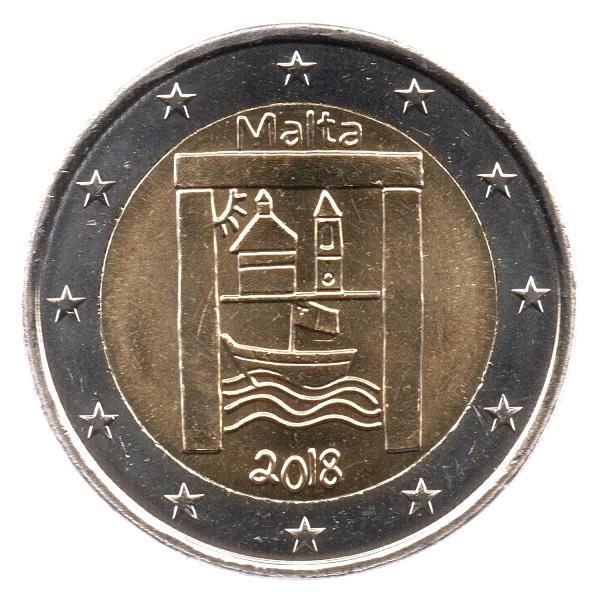 (EUR13.200.2018.COM2.spl.000000002) 2 euro Malta 2018 - Cultural Heritage Obverse (zoom)