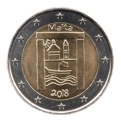 (EUR13.200.2018.COM2.spl.000000002) 2 euro commémorative Malte 2018 - Patrimoine culturel Avers