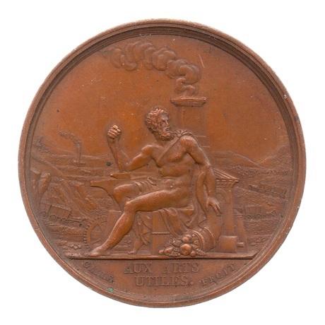 (FMED.Méd.&jetonsXIXème.1856.Cu1.sup.000000001) Médaille - Société impériale de la Loire Avers