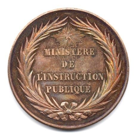 (FMED.Méd.&jetonsXIXème.Ag1.000000001) Médaille argent - Bureau d'administration des lycées Avers