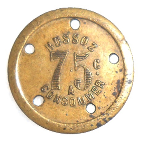 (FMNEC.075.1.1.000000001) 75 centimes BUSSOZ Avers