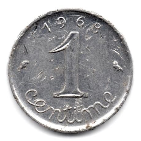 (FMO.001.1968.7.12.000000001) 1 centime Epi 1968 Revers