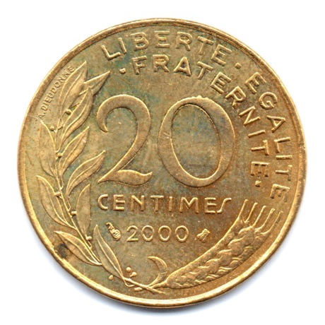 (FMO.020.2000.9.43.000000001) 20 centimes Marianne 2000 Revers