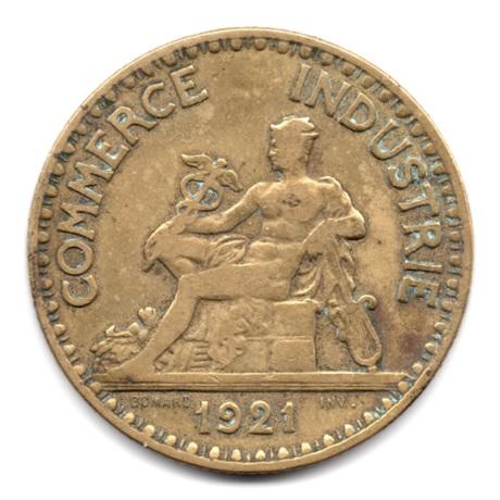 (FMO.2.1921.17.2.000000001) 2 Francs Chambres de commerce 1921 Avers