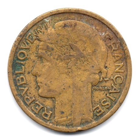 (FMO.2.1933.18.3.000000001) 2 Francs Morlon 1933 Avers