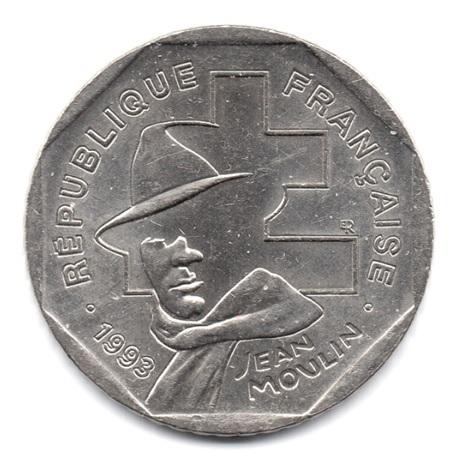 (FMO.2.1993.23.1.000000002) 2 Francs Jean Moulin 1993 Avers