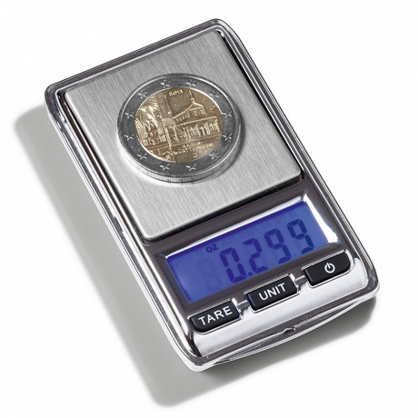 (MAT01.Matman.Man1.1.344222) Balance numismatique numérique Leuchtturm, capacité maximum 100 g