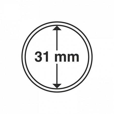 (MAT01.Rangindiv.Caps.325003) Capsules Leuchtturm pour monnaies 31,00 mm