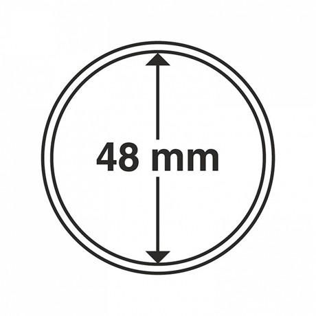 (MAT01.Rangindiv.Caps.325865) Capsules Leuchtturm pour monnaies 48,00 mm