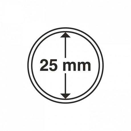 (MAT01.Rangindiv.Caps.331675) Capsules Leuchtturm pour monnaies 25,00 mm