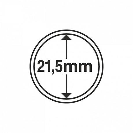 (MAT01.Rangindiv.Caps.336560) Capsules Leuchtturm pour monnaies 21,50 mm