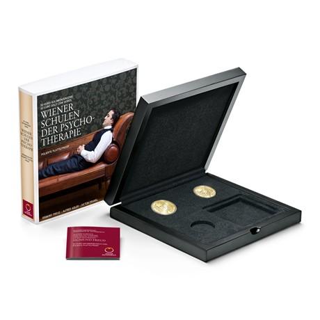 (MATMünzeÖ.Cofméd&écr.Ecr.22652) Ecrin collector Monnaie d'Autriche - Ecoles viennoises de psychothérapie