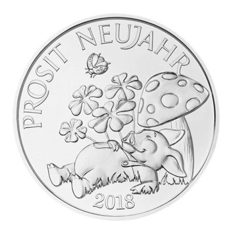 (MED01.Méd.MünzeÖ.2018.Ag1) Jeton argent porte-bonheur 2018 Avers
