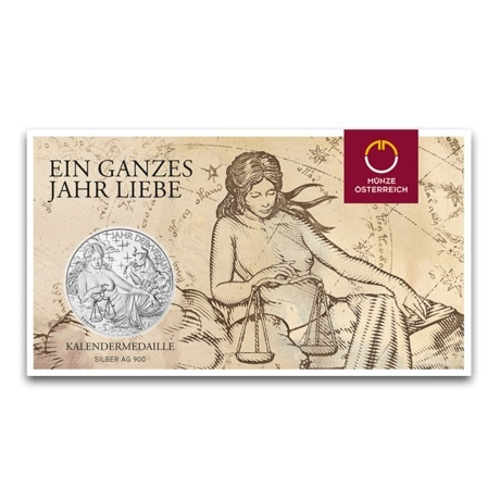 (MED01.Méd.MünzeÖ.2018.Ag2) Médaille argent - Calendrier 2018 (packaging)