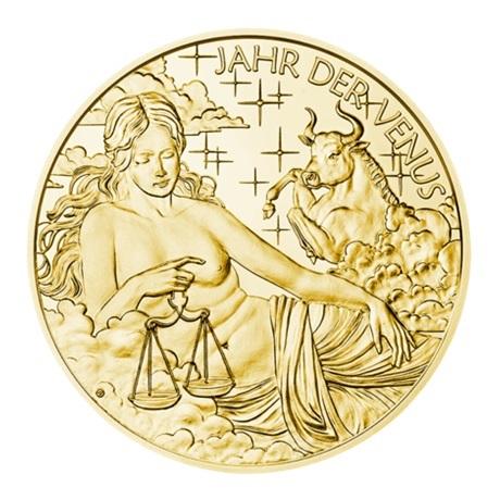 (MED01.Méd.MünzeÖ.2018.Au2) Médaille or - Calendrier 2018 Avers