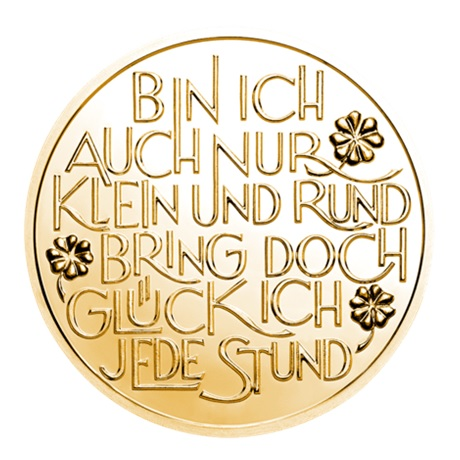 (MED01.Méd.MünzeÖ.2018.CuSn1) Jeton bronze porte-bonheur 2018 Revers