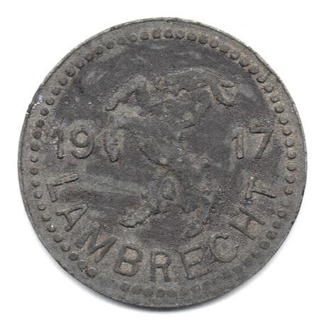 (W007NEC.010.1917.Zn1.000000001) 10 Pfennig Chèvre héraldique - Lambrecht Avers