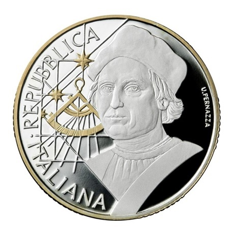 10 euro Italie 2019 argent BE - Christophe Colomb Avers