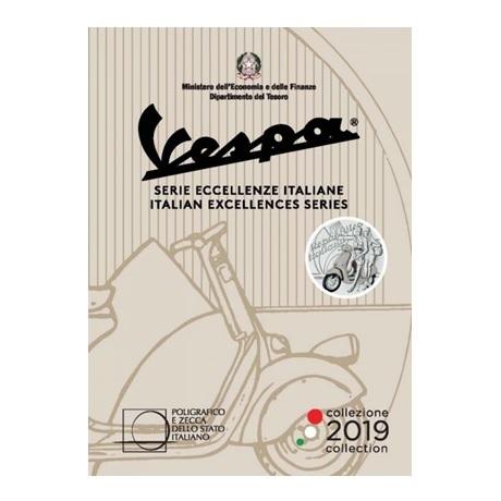 5 euro Italie 2019 argent BU - Vespa (blanc) (packaging)