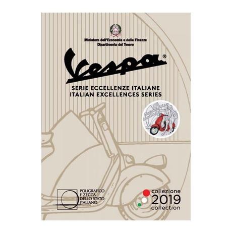 5 euro Italie 2019 argent BU - Vespa (rouge) (packaging)