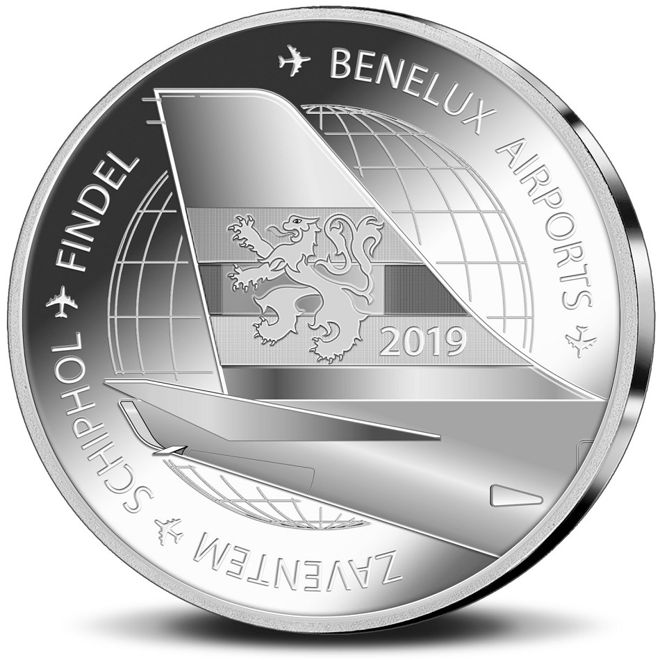 Brilliant Uncirculated coin set Benelux 2019 (medal reverse) (zoom)