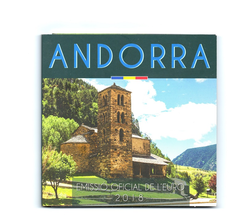(EUR24.CofBU&FDC.2018.Cof-BU.16191) BU coin set Andorra 2018 Front (zoom)