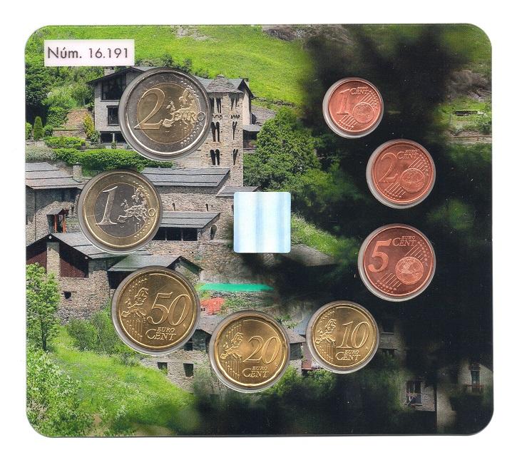 (EUR24.CofBU&FDC.2018.Cof-BU.16191) BU coin set Andorra 2018 Reverses (zoom)