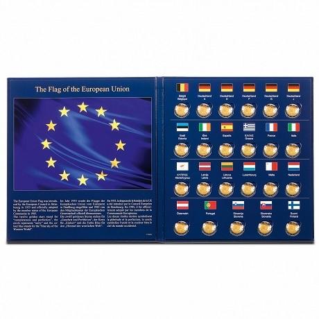 (MAT01.Alb&feu.Alb.347757) Album Leuchtturm PRESSO - Drapeau européen (ouvert)