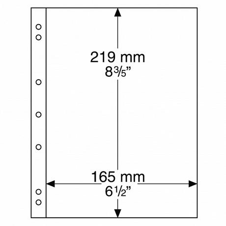(MAT01.Albfeu.Feu_.304653) Feuilles Leuchtturm NUMIS 165,00 mm x 219,00 mm