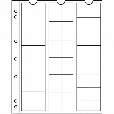 (MAT01.Alb&feu.Feu.323010) Feuilles Leuchtturm NUMIS 33 pièces divers diamètres