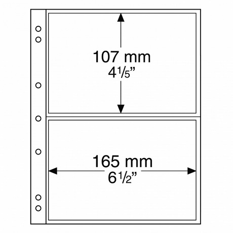 (MAT01.Albfeu.Feu_.338575) Feuilles Leuchtturm NUMIS 165,00 mm x 107,00 mm