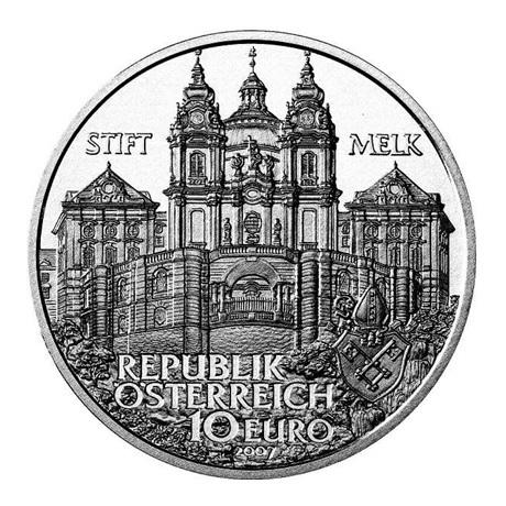10 euro Autriche 2007 argent BU - Abbaye de Melk Avers