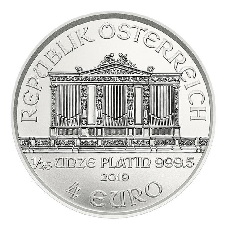 4 euro Austria 2019 0.04 ounce platinum - Vienna Philharmonic Orchestra Obverse (zoom)