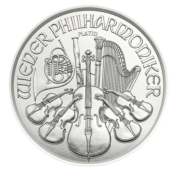 4 euro Austria 2019 0.04 ounce platinum - Vienna Philharmonic Orchestra Reverse (zoom)