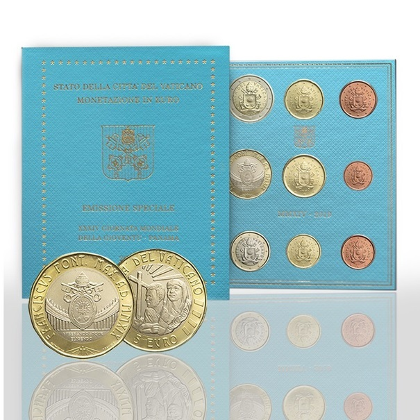 BU coin set Vatican State 2019 - World Youth Day (zoom)